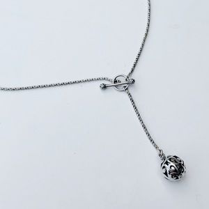 Silpada 925 Sterling Silver Lariet Ball Necklace